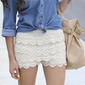 Lush lace shorts, siez S